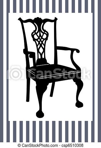 antiquité, chaise - csp6510308