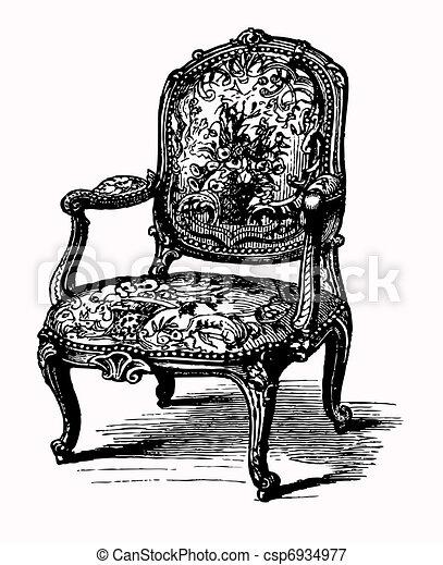 antiquité, fauteuil - csp6934977
