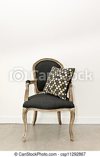 antiquité, fauteuil, mur - csp11292867