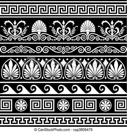 antiquité, grec, frontières, ensemble - csp3806476
