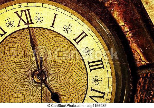 antiquité, horloge - csp4156938