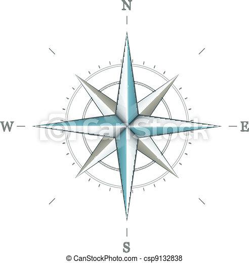 antiquité, rose, symbole, navigation, vent - csp9132838