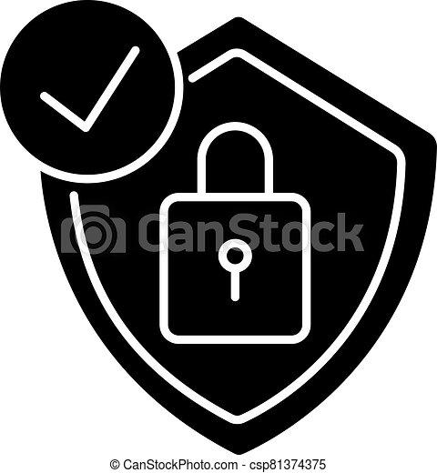 Antivirus black glyph icon - csp81374375