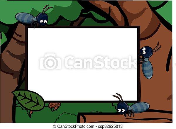 Ants around Exotic Forest Scenery - csp32925813