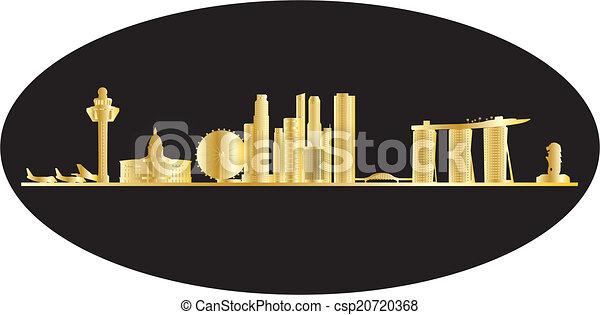antwerp belgium city in gold - csp20720368