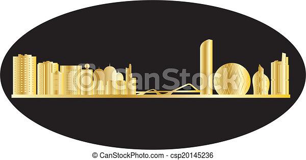 antwerp belgium city in gold - csp20145236