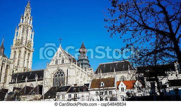 Antwerp cityscape - csp54848834