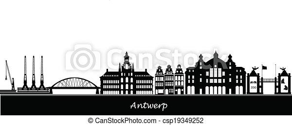antwerp skyline - csp19349252