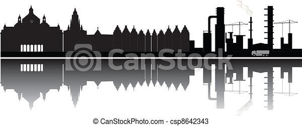 Antwerp skyline - csp8642343
