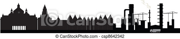 Antwerp skyline - csp8642342