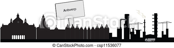 antwerp skyline - csp11536077