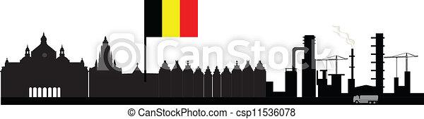 antwerp skyline - csp11536078