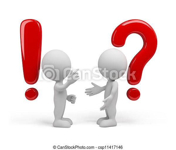 antwort, frage, - - csp11417146