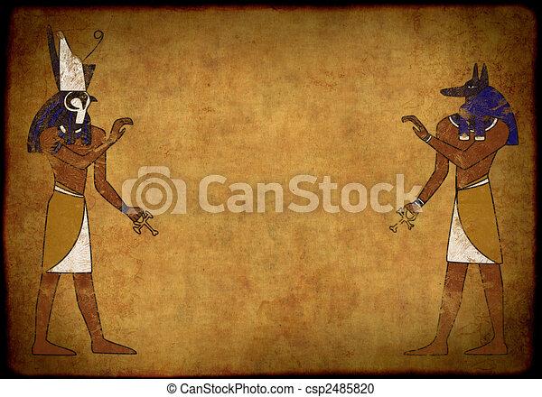 Anubis and Horus - csp2485820