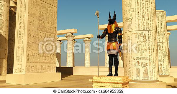 Anubis Statue in Temple