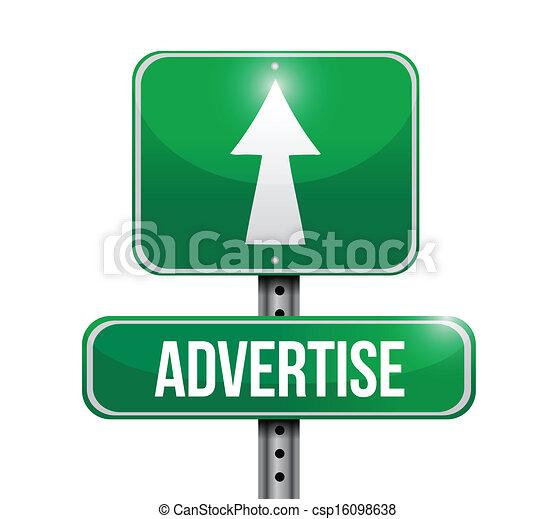 Anuncie el diseño de ilustración de carteles - csp16098638