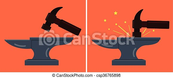 Anvil and hammer - csp36765898