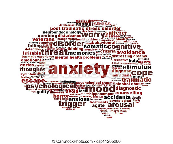 Anxiety Mental Health Symbol Isolated On White Mental Disorder Icon