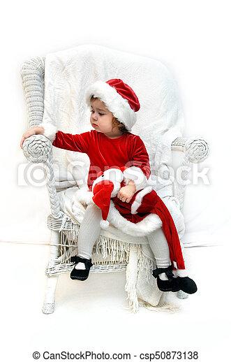 Anxiously awaiting Santa - csp50873138