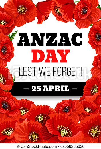 Anzac day 25 april poppy vector greeting card anzac day greeting anzac day 25 april poppy vector greeting card m4hsunfo
