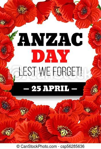 Anzac day 25 april poppy vector greeting card anzac day greeting anzac day 25 april poppy vector greeting card mightylinksfo