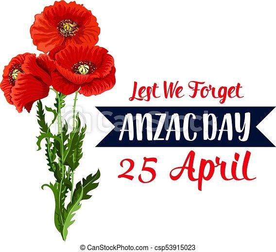 Anzac day 25 april red poppy vector icon ribbon anzac day war anzac day 25 april red poppy vector icon ribbon mightylinksfo