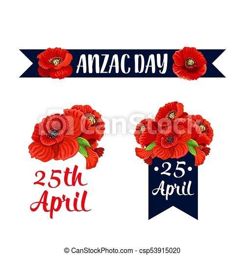 Anzac day 25 april red poppy vector icons anzac day red poppy icons anzac day 25 april red poppy vector icons mightylinksfo