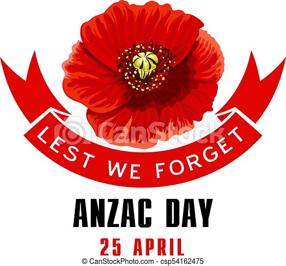 Anzac day lest we forget card with poppy flower anzac day anzac day lest we forget card with poppy flower csp54162475 mightylinksfo