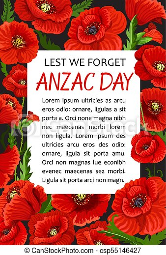 Anzac day poppy vector lest we forget poster anzac day lest we anzac day poppy vector lest we forget poster mightylinksfo