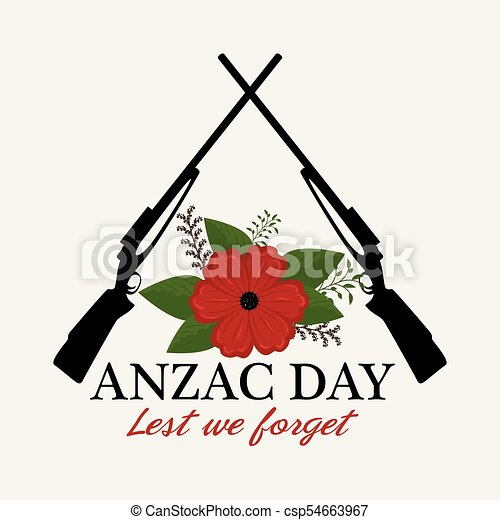 Anzac day poster with red poppy flower and text lest we clip art anzac day poster with red poppy flower csp54663967 mightylinksfo