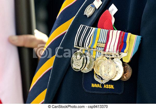 Anzac Day - War Memorial Service - csp9413370