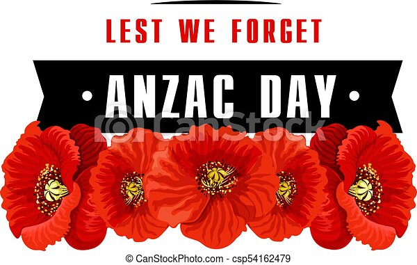 Anzac poppy flower icon with lest we forget banner anzac day poppy anzac poppy flower icon with lest we forget banner csp54162479 mightylinksfo