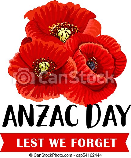 Anzac remembrance day icon with red poppy flower anzac remembrance anzac remembrance day icon with red poppy flower csp54162444 mightylinksfo