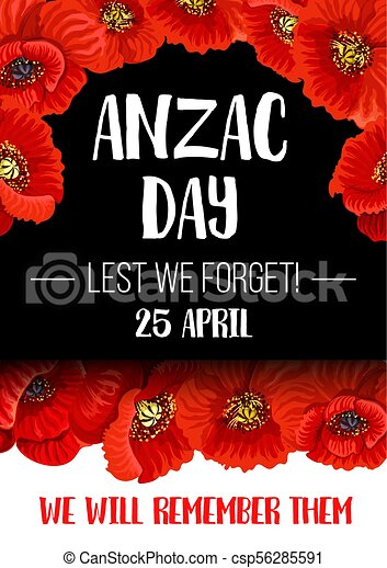 Anzac remembrance day red poppy flower banner anzac day poppy anzac remembrance day red poppy flower banner csp56285591 mightylinksfo