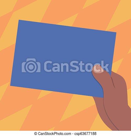 Design Business Leere Kopie Raumtext für Anzeigen Website Promotion isolierte Banner Vorlage gezeichnete Hu Analyse Hand mit leerem Farbpapier Papp-Vektor - csp63677188