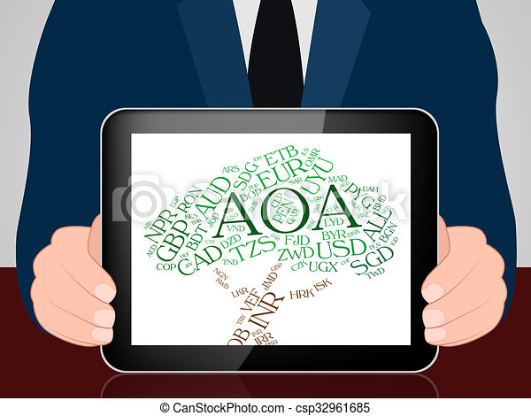 Aoa Currency Indicates Exchange Rate And Coin Aoa Currency Meaning