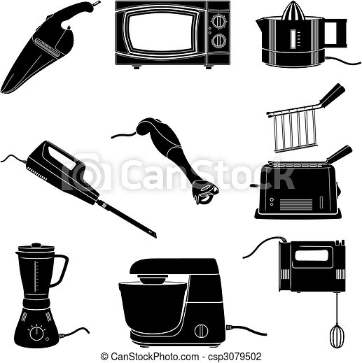 Aparatos cocina siluetas aparatos el ctricos cocina for Aparatos de cocina