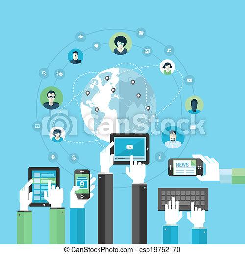 apartamento, conceito, rede, social - csp19752170