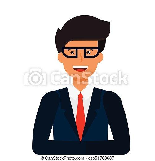 apartamento, conceito, tv, jovem, ilustração, isolado, vetorial, fundo, branca, caricatura, newscaster - csp51768687