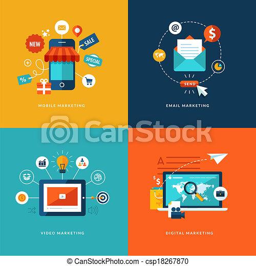 apartamento, desenho, conceito, jogo, ícones - csp18267870