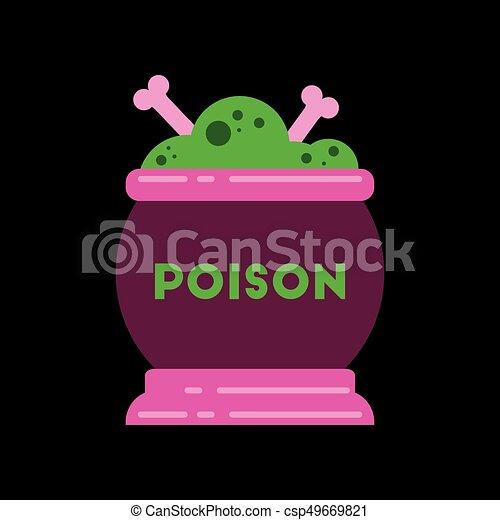 apartamento, poção, cauldron, fundo, elegante, ícone - csp49669821