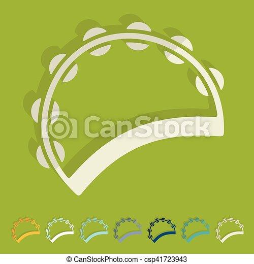 apartamento, tambourine, design: - csp41723943