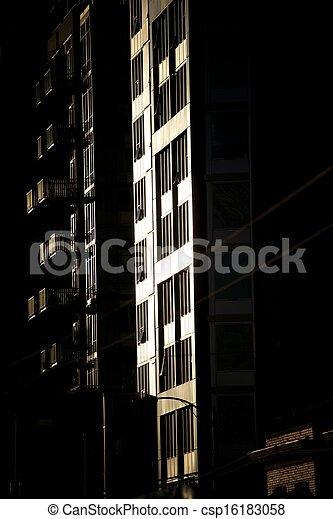 Apartment block at dusk (2) - csp16183058