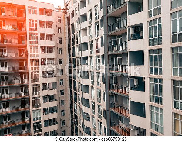 Apartment building closeup. Batumi. Georgia - csp66753128