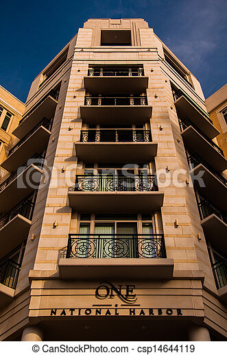 Apartment building in National Harbor, Maryland. - csp14644119