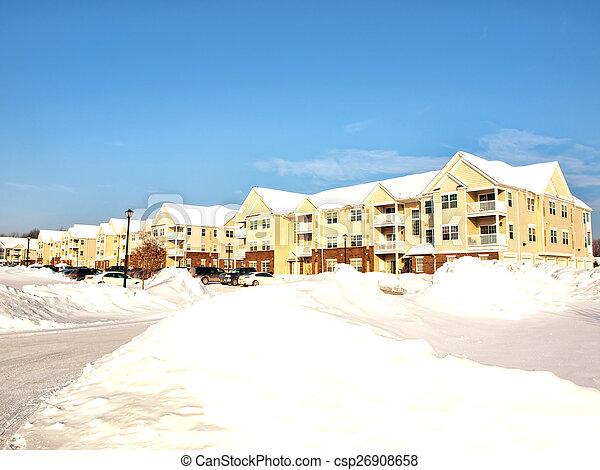 apartment complex - csp26908658