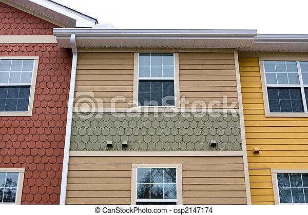 Apartment Facade Design - csp2147174
