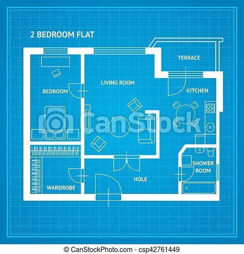 Apartment floor plan blueprint vector apartment floor plan eps apartment floor plan blueprint vector malvernweather Image collections