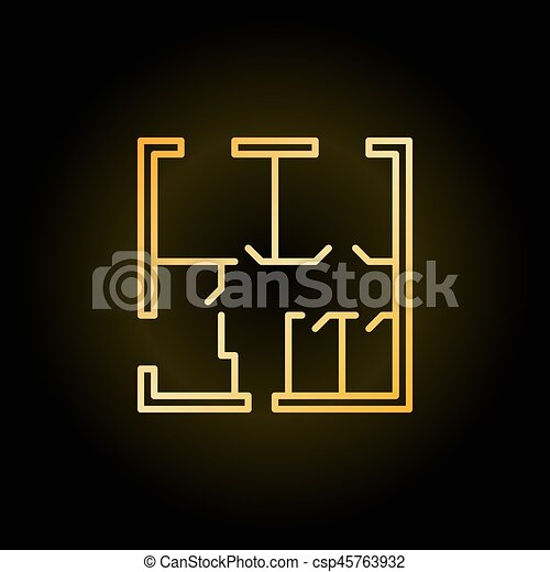 Apartment house floor plans vector icon printed at 3d on eps