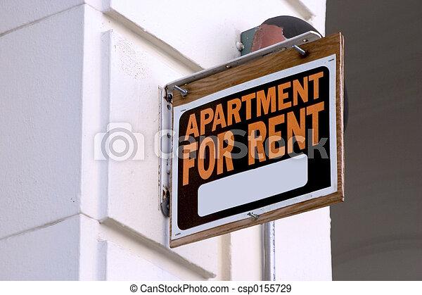 Apartment for Rent Sign - csp0155729